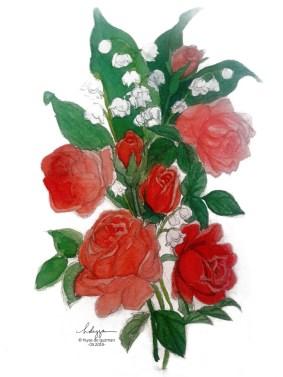 Watercolor flowers - Roses
