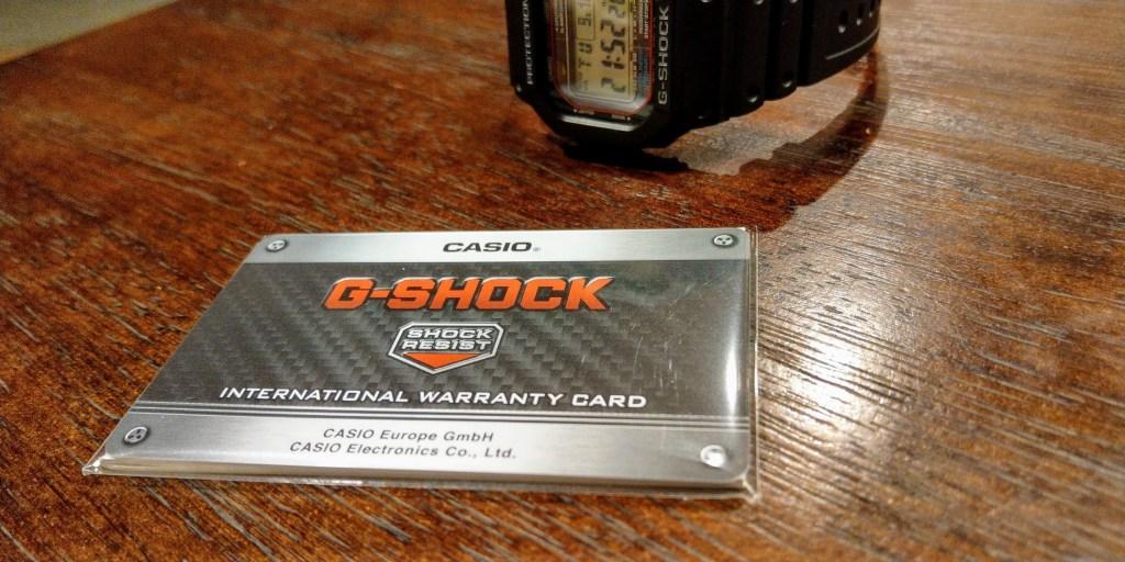 G-SHOCK国際保証書
