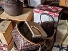 共箱の茶道具のイメージ