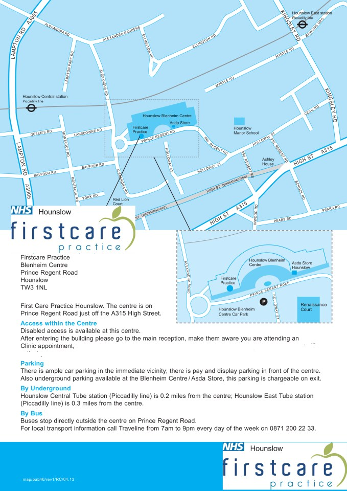 Firstcare map