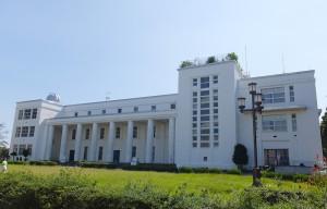 日吉キャンパス内にある「第一校舎」が慶應高校のメイン校舎となっている