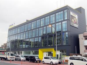 新横浜駅に近い環状2号線沿いの大豆戸町では独ケルヒャーの日本本社を建設中