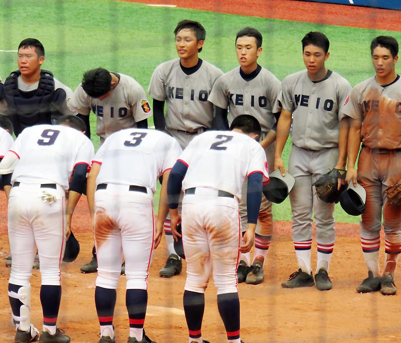 <高校野球の日吉対決>左腕エースの投手戦は慶應が勝利、日大は7回に力尽きる