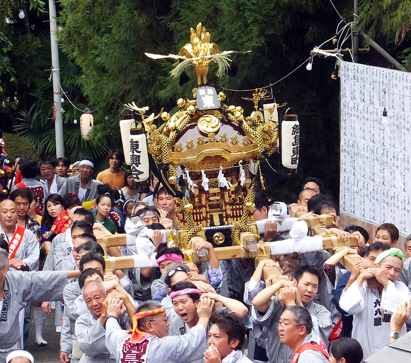 諏訪神社例大祭での担ぎ手を募集、7/22(日)に綱島東で初の「おみこしフェスタ」