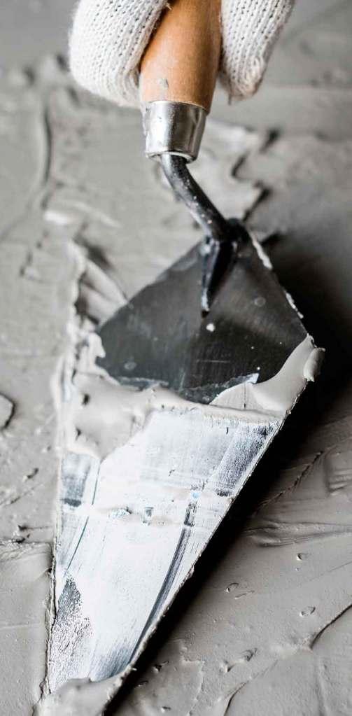 Aplicación de cemento
