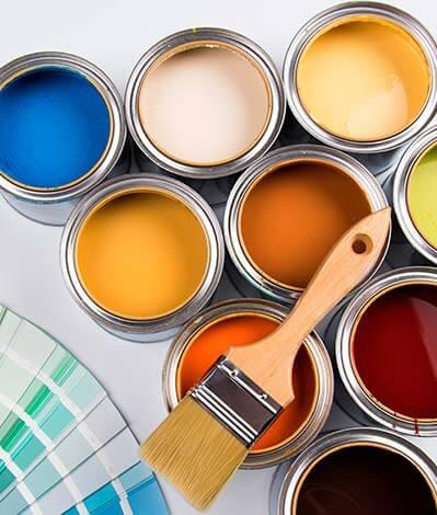 Selección de pinturas varios colores