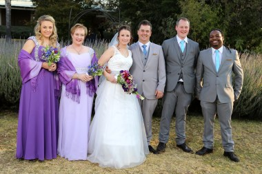 Blue and Purple wedding - Bridal Party