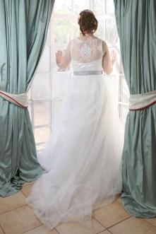 Back of White Bridal Dress