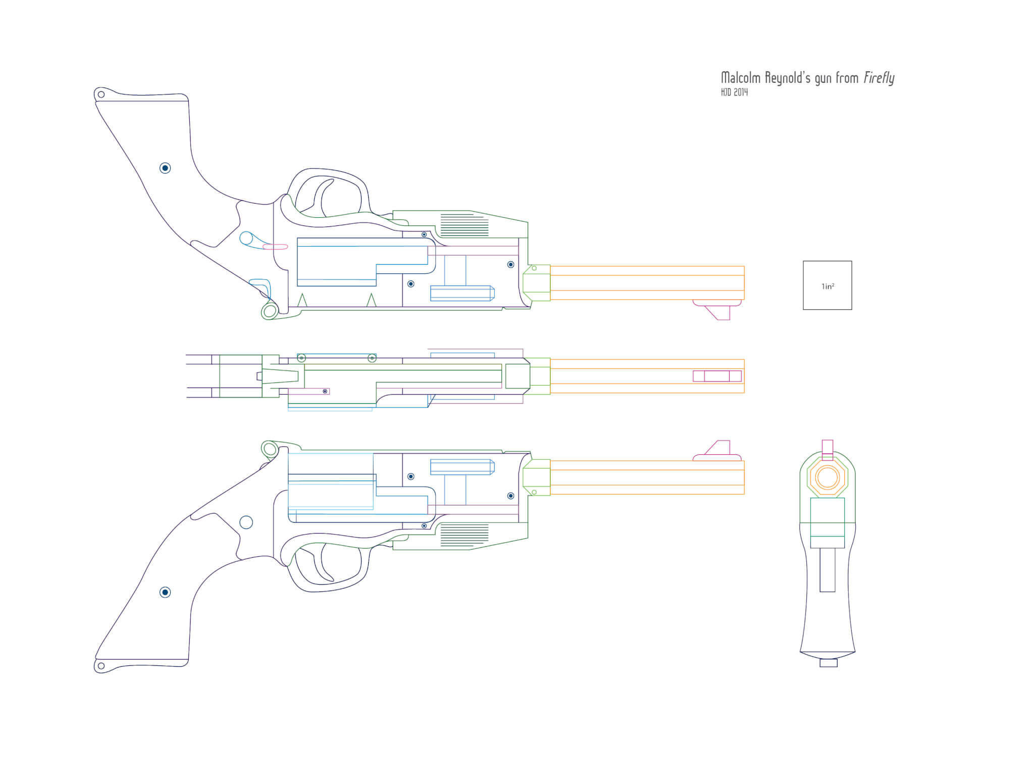 Blueprint For Mal S Gun