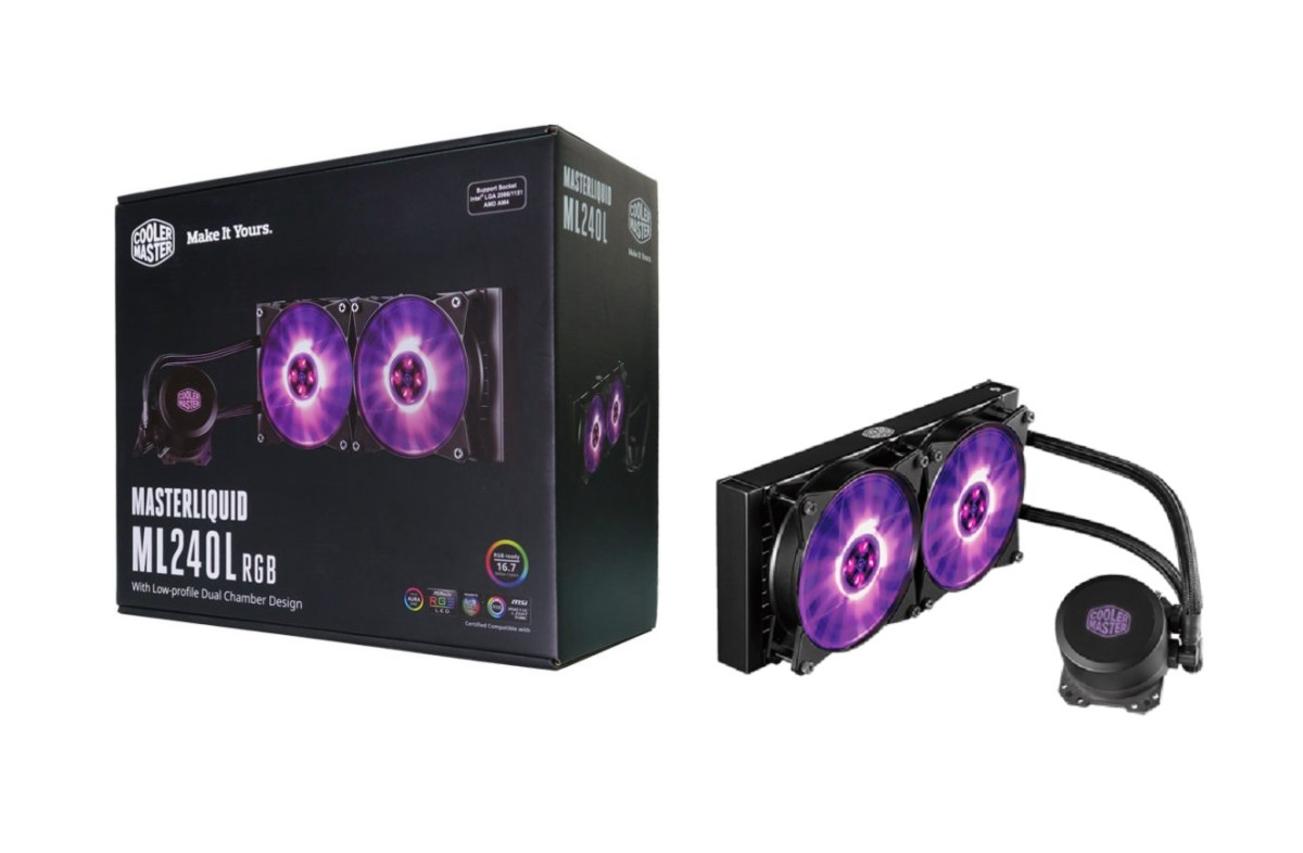 最新Cooler Master MasterLiquid ML120L RGB 及 ML240L RGB 蓄勢待發