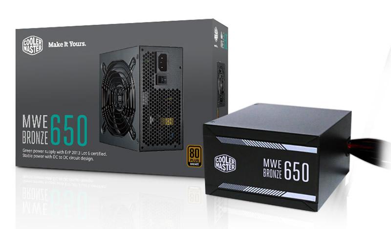 Cooler Master MWE Bronze 系列 80Plus 銅牌電源供應器