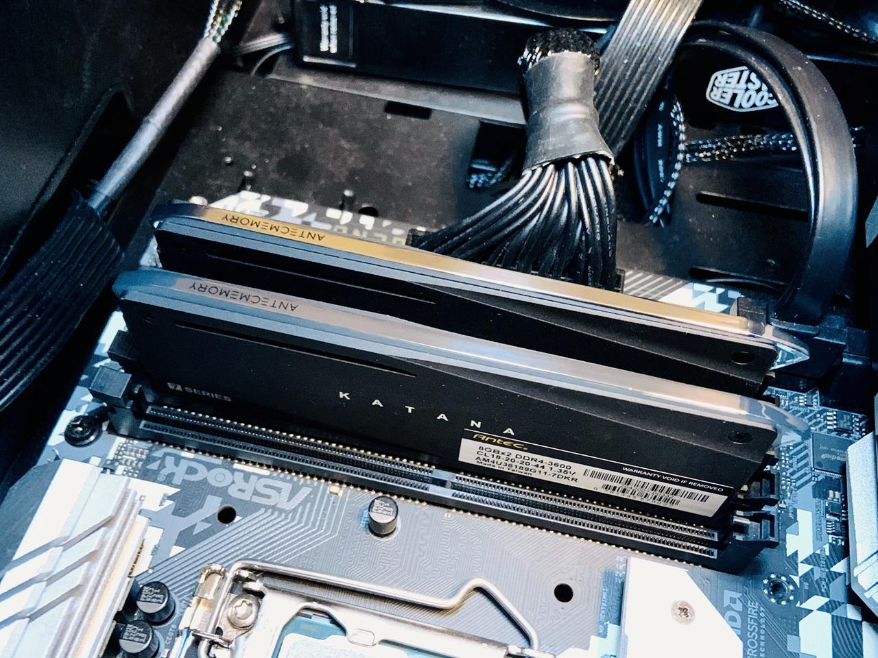 antec katana ddr4-3600 install 3