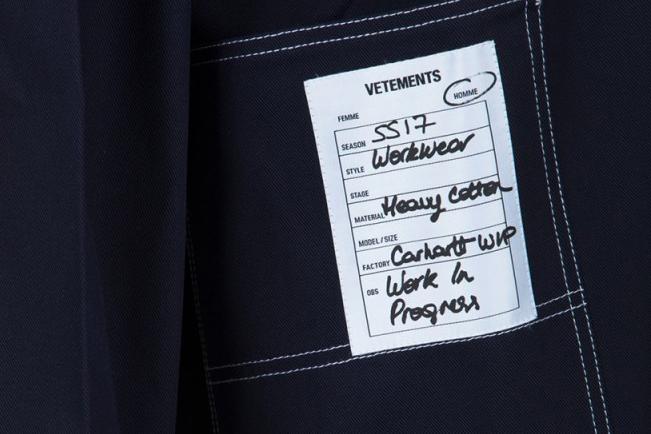 Vetements x Carhartt WIP 聯名「Chemise Denim」Worker Shirt 上架