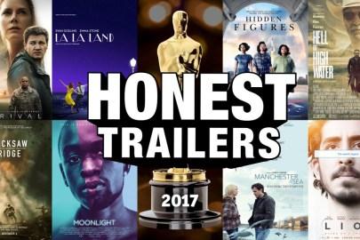 【奧斯卡】為提名電影改「新」戲名《OSCARS 2017》Honest Trailer 上線!