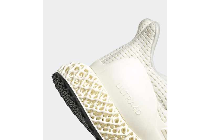 adidas 混種跑鞋 Ultra4D 全新配色「Footwear White/Core White」發佈