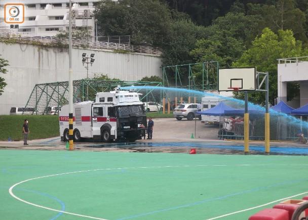 水炮車首試射藍色水炮 360度全方位覆蓋|即時新聞|港澳|on.cc東網
