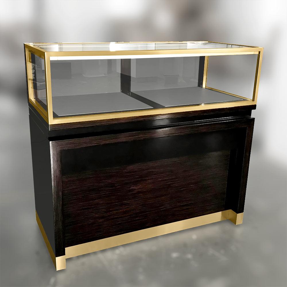 Front View Gloss Oak Veneer   Besty Display
