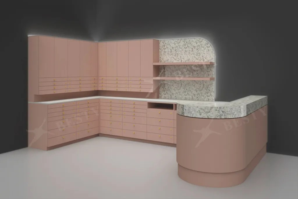 Set with Counter and Cabinet | Besty Display