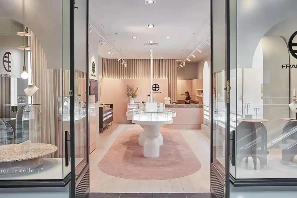 Front View of FRANCESCA flagship shop | Besty Display