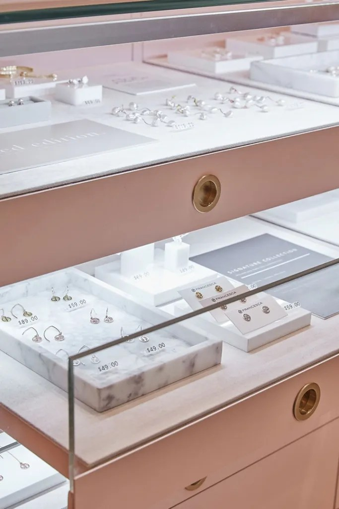 Glass Fronted Drawer in Pink | Besty Display