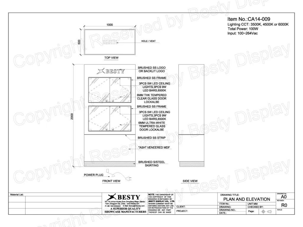CA14-009 Technical File Measurement | Besty Display