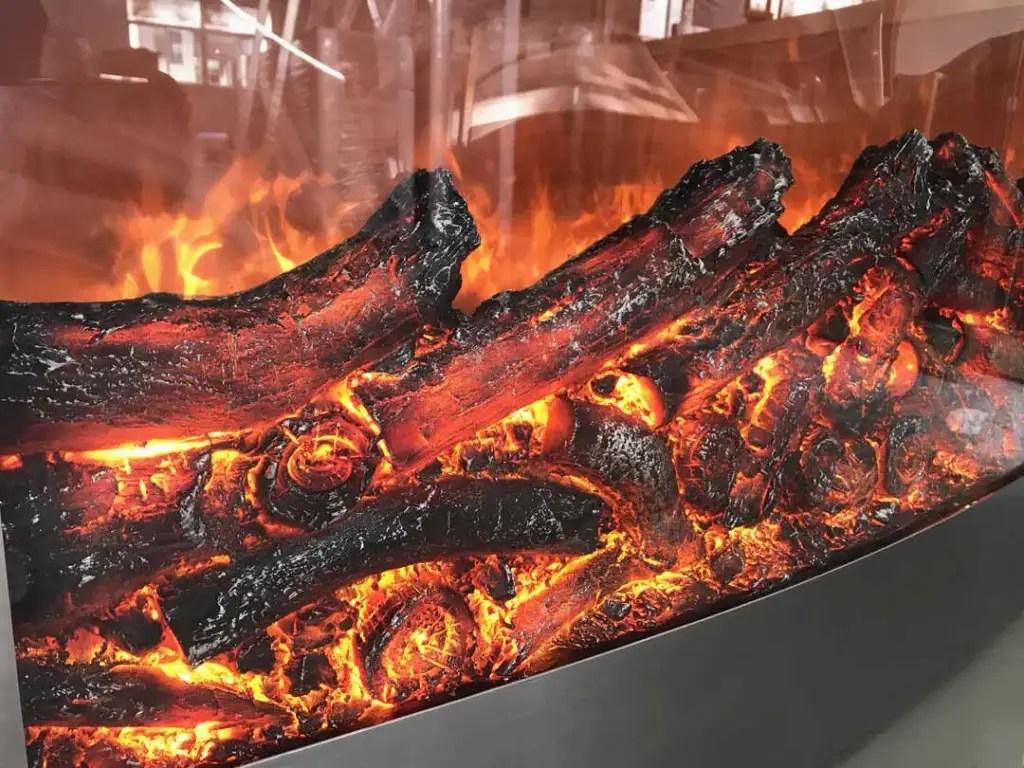 CT-003 Fake Fireplace Heater Detail | Besty Display