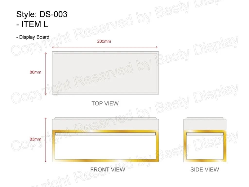 DS-003 Item L Technical File Measurement   Besty Display