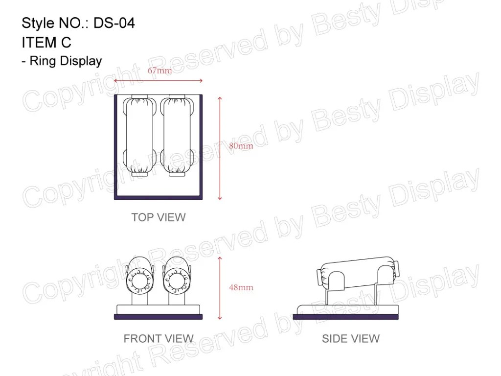 DS-004 Item C Measurement | Besty Display