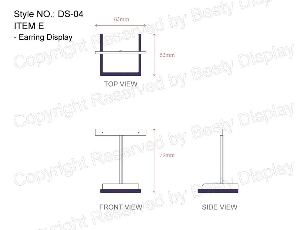 DS-004 Item E Measurement | Besty Display