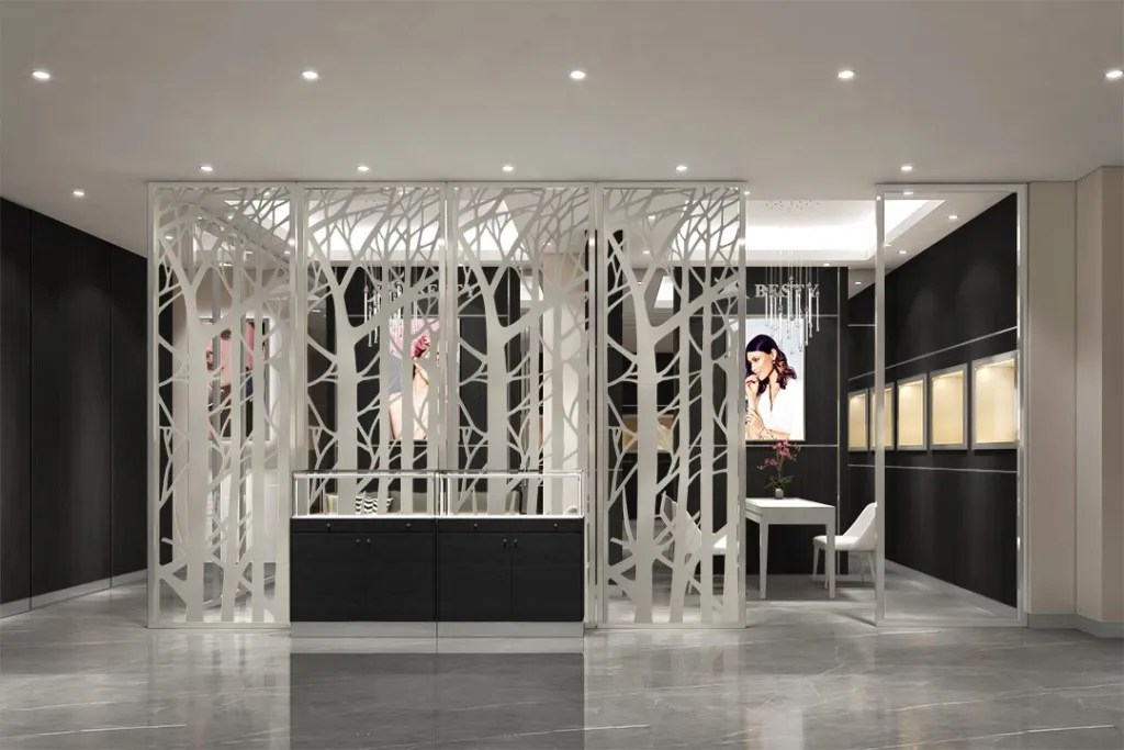 MPW-09 Metal Partition Wall | Besty Display