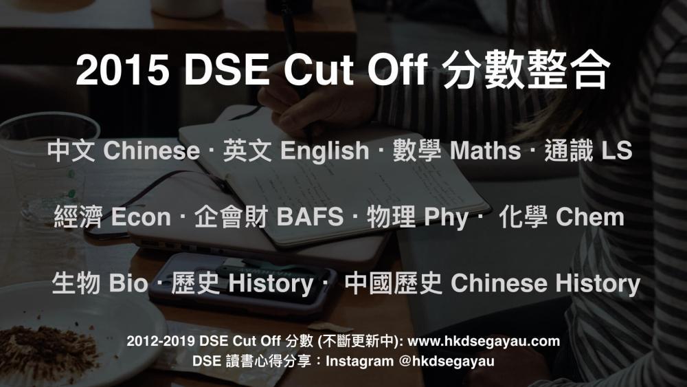 2015 DSE Cut Off 分數 | Cut Off Level & Score
