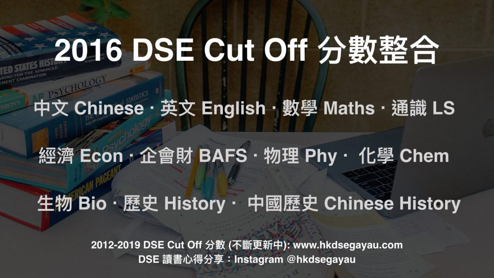 2016 DSE Cut Off 分數 | Cut Off Level & Score