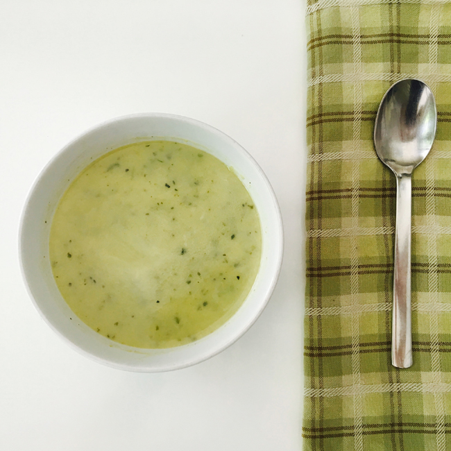 'Creamy' Zucchini Soup. Gluten-Free, Dairy-free, Paleo.