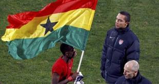 جيان يقود غانا للفوز على امريكا والتأهل لدور الثمانية بالمونديال