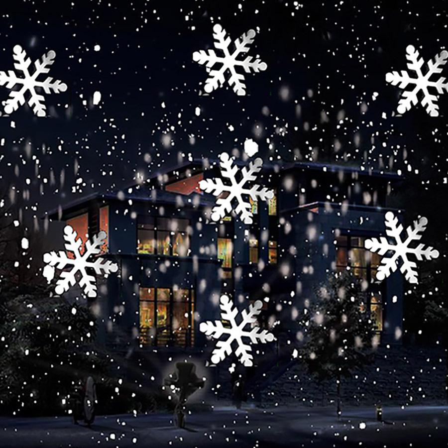 Laser Christmas Lights Snowflakes
