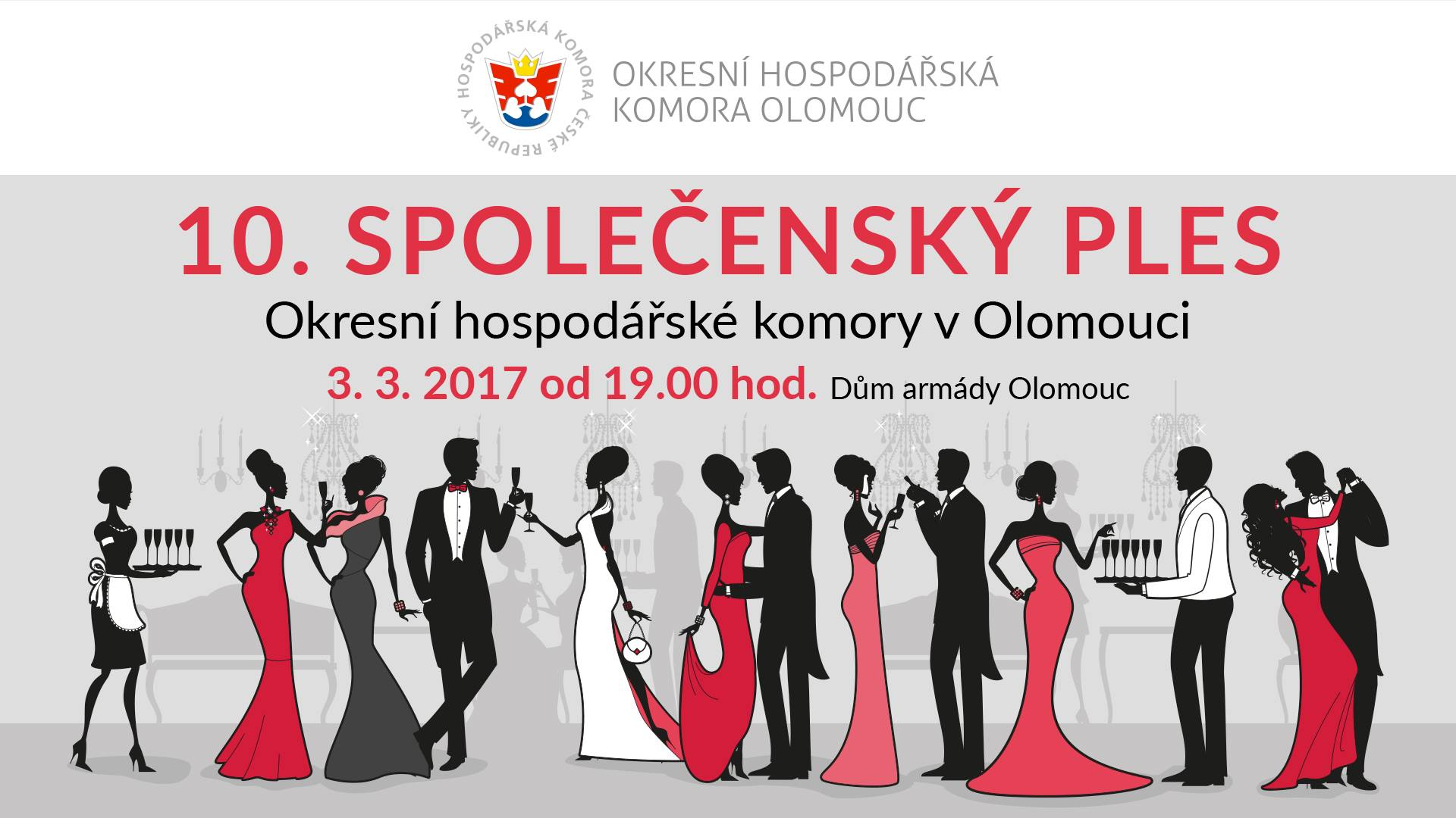 Společenský ples Okresní hospodářské komory Olomouc