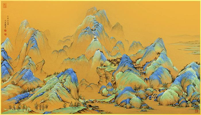 傳世名畫《千里江山圖》 故宮本月全卷展出
