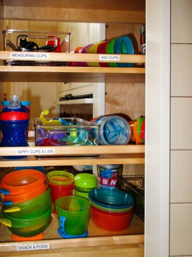 kid-friendly kitchen organizing