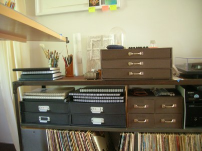 Alan Jackson-Storage Drawers in Studio