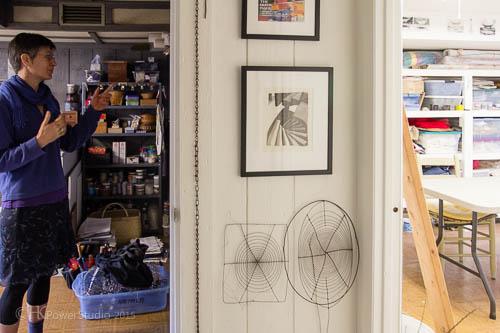 Artist Heather Allen Hietala's art studio