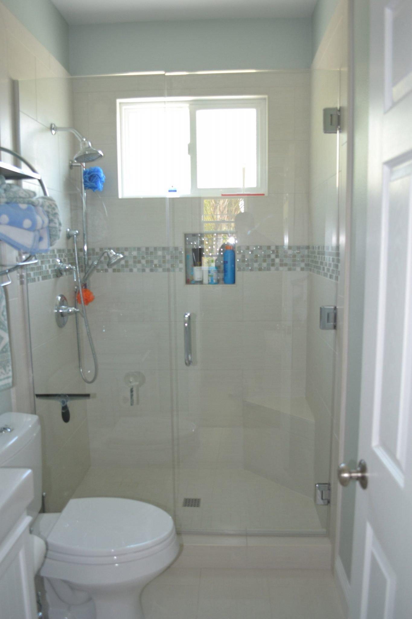 Glass Door Shower Remodel