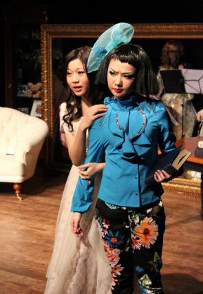 Joyce Cece Chan (Henriette) and Rosalind Wong (Justine)