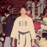 梁伯偉師傅攝於場館內 Sensei Patrick P. W. Leung, in the stadium