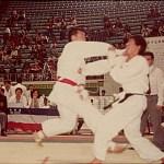 梁伯偉師傅在進行男子搏擊比賽  Sensei Patrick P. W. Leung, in a kumite competition