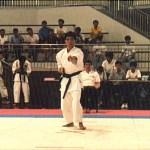 梁伯偉師傅在進行男子套拳比賽 Sensei Patrick P. W. Leung, in a kata competition