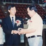 梁伯偉師傅與贊助人蕭樹強先生合照 Sensei Patrick P. W. Leung with our sponsor Mr. Siu Shu-keung
