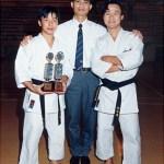 黃家棟師傅與本會男子選手合照 Sensei Sunny K. T. Wong, with men competitors in a group photo