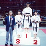 本會奪得女子高級組搏擊冠、亞軍成績  Members of our Association won the 1st and 2nd prizes in the girl's senior kumite competition