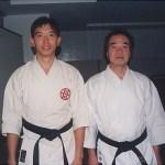 梁伯偉師傅與世界糸東流空手道連盟技術本部長今西俊之師範〔九段〕合照 Sensei Patrick P. W. Leung, with Sensei Toshiyuki Imanishi [9th Dan], Director of Technical Committee of World Shitoryu Karatedo Federation