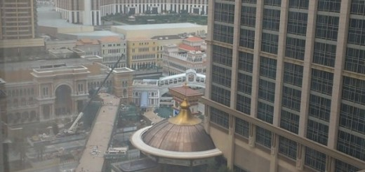 View at the Conrad next door, and the Venetian across the street